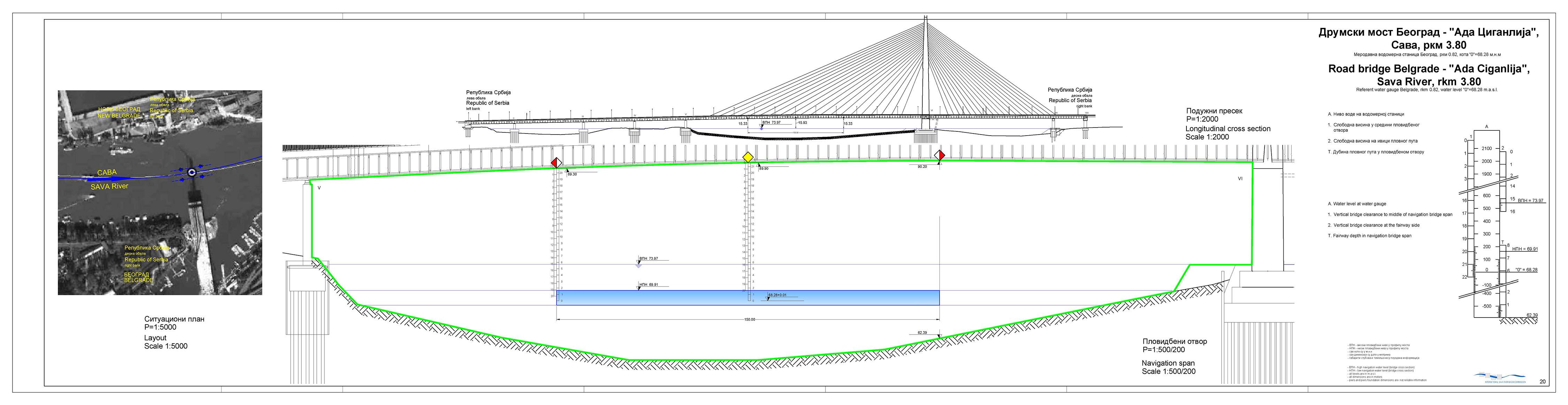 Mapa Beograda Most Na Adi Superjoden